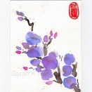 Purple Blossom Ink on Paper 115 x 150mm