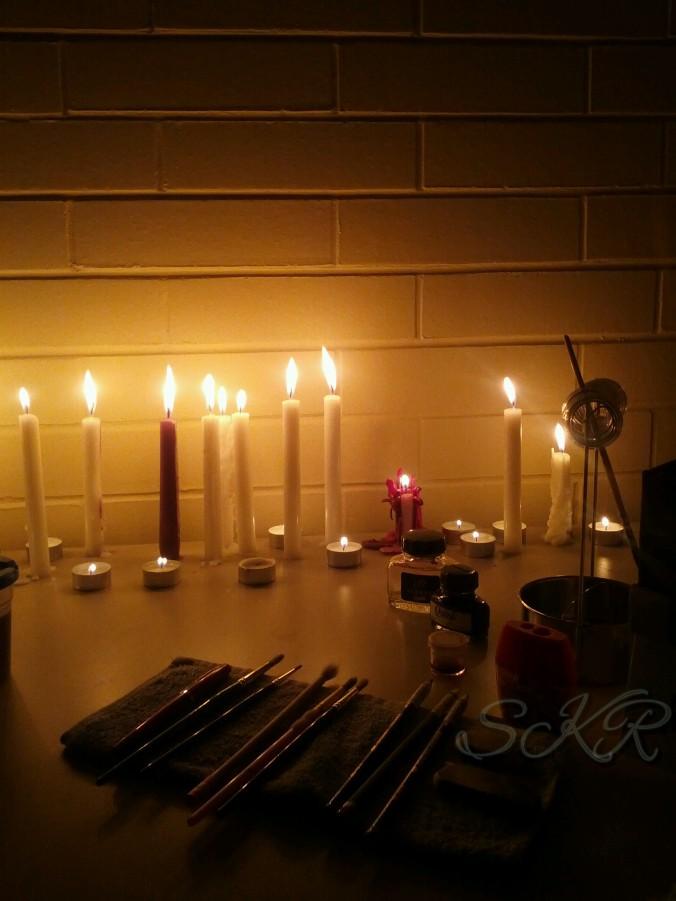 Sarah K Reece - Candlelight in my studio