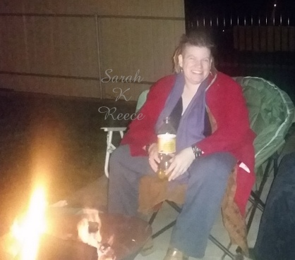 Resting by the fire