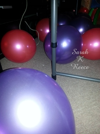 Star knocked herself blowing up all the balloons